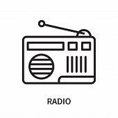 Radio Icon Isolated On White Background. Radio Icon Simple Sign. Radio Icon Trendy And Modern Symbol poster