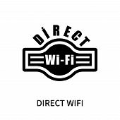 Direct Wifi Icon Isolated On White Background. Direct Wifi Icon Simple Sign. Direct Wifi Icon Trendy poster