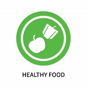 Healthy Food Icon Isolated On White Background. Healthy Food Icon Simple Sign. Healthy Food Icon Tre poster
