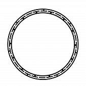 Greek Key Round Frame. Typical Egyptian, Assyrian And Greek Motives Circle Border. poster