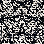 Stripe Texture Pattern. Black White Japanese Watercolor Seamless Print. Organic Shibori Vector Tie D poster