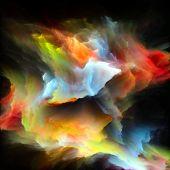 Virtualization Of Colorful Paint Splash Explosion poster