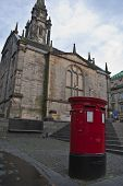 pic of square mile  - red postbox on the royal mile in edinburgh - JPG