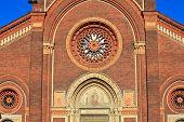 foto of carmelite  - View of Santa Maria del Carmine church in Milan - JPG
