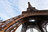 picture of arch foot  - arch abutments of eiffel tower in Paris - JPG