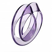 picture of mobius  - glass mobius strip isolated on a white background - JPG