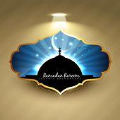 pic of namaz  - stylish ramadan kareem label design - JPG