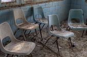 Group Abandoned Chairs