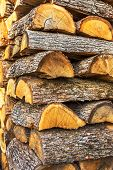 ������, ������: Pile Of Chopped Fire Wood Prepared For Winter