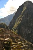foto of old spanish trail  - Detail ruins of Machu Picchu - JPG