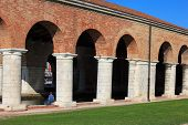 foto of arsenal  - View of Arsenale columns in Venice Italy - JPG