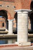 picture of arsenal  - View of Arsenale columns in Venice Italy - JPG