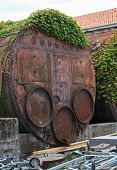 foto of arsenal  - Industrial iron barrel container Arsenale in Venice - JPG