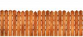 foto of wooden fence  - Beautiful wooden fence with natural wood pattern slats - JPG