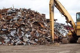 pic of scrap-iron  - Scrap metal piles in a recycling center - JPG