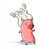 image of smelly  - smelly cartoon pig - JPG