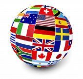 Постер, плакат: International Business World Flags
