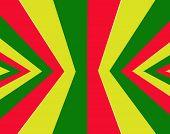 stock photo of rasta  - Red yellow green rasta flag for background - JPG