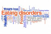 picture of anorexia nervosa  - Eating distorder concepts word cloud illustration - JPG