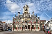 Постер, плакат: Delft City Hall