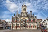 Постер, плакат: Delft City Hall