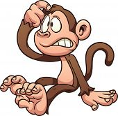 pic of confuse  - Confused cartoon monkey - JPG