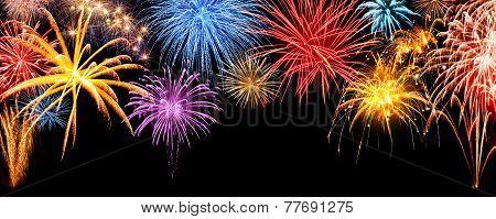 fireworks display panorama poster id 77691275