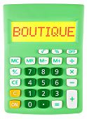 picture of boutique  - Calculator with BOUTIQUE on display isolated on white background - JPG