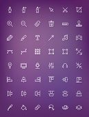 stock photo of tool  - Thin line design tools icons set for web and mobile apps - JPG