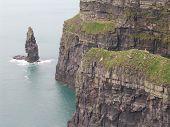 stock photo of cliffs moher  - Cliffs of Moher - JPG