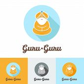 stock photo of guru  - Vector flat modern minimalistic guru logo set - JPG