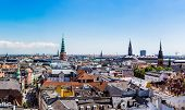 stock photo of copenhagen  - Large panorama view of Copenhagen in Denmark - JPG