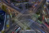 foto of overpopulation  - Urban traffic and congestion with Speed and Motion concept - JPG