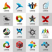 stock photo of internet icon  - Logo and Abstract web Icon and globe vector identity symbol - JPG