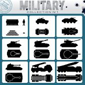 stock photo of panzer  - Various Military Vehicles and Weapons - JPG