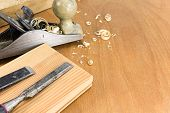 foto of carpenter  - Carpenters working tools - JPG