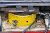pic of cylinder  - Industrial scale 200 ton hydraulic cylinder in action during a bridge deconstruction - JPG