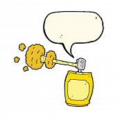 stock photo of spray can  - cartoon spray can with speech bubble - JPG