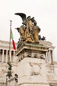 foto of altar  - Vittoriano or altar of the fatherland in Venice Square in Rome - JPG