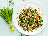 pic of nettle  - Boiled pearl barley with nettle carrot and leek - JPG