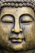 pic of buddha  - Garden Buddha Zen Style Statue detail background - JPG