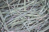 foto of hay bale  - Macro view of a green hay bale background - JPG