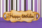 picture of plaque  - Wooden plaque with the inscription  - JPG