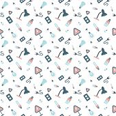 picture of plinth  - Seamless pattern with electrical appliances and light bulbs vector background - JPG