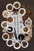 foto of chinese calligraphy  - Acupuncture needles - JPG