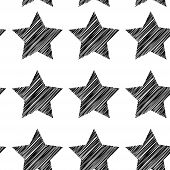 stock photo of shooting stars  - Sketch seamless pattern with stars - JPG