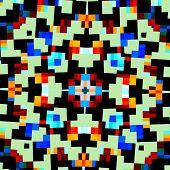 foto of color geometric shape  - Abstract geometric kaleidoscope pattern - JPG