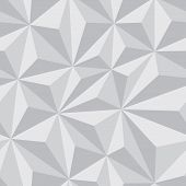 stock photo of grayscale  - Abstract Seamless Background with Relief Triangles in grayscale color  - JPG