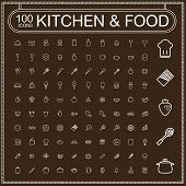 picture of cake-mixer  - adorable food and kitchenware icons set over brown background - JPG