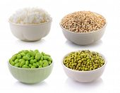 picture of soya beans  - soy beans Rice Job - JPG